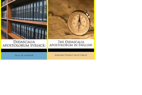 11. Didascalia Apostolorum Modern Book