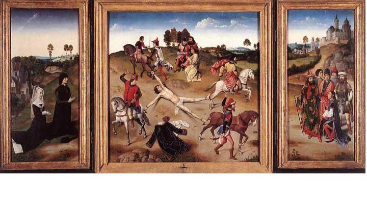 16. Hippolytus (Martyr) mati syahid dengan cara kaki tangannya ditarik kuda.